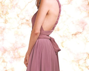 Bridesmaid Chiffon Convertible Wrap Dress