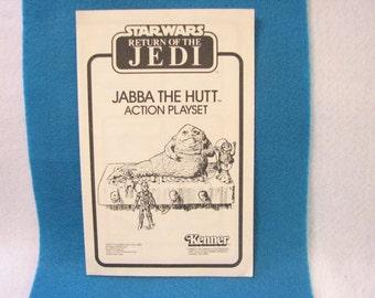 Star Wars Jabba The Hutt Playset Assembley Book