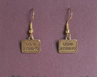 Gone Fishing Earrings - Fishing Earrings - Fishing Opener - Northwoods - Nature