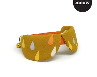 GOOOD Cat Collar | Dapper Round - Monsoon | 100% Multi Colours Cotton Fabric | Safety Breakaway Buckle