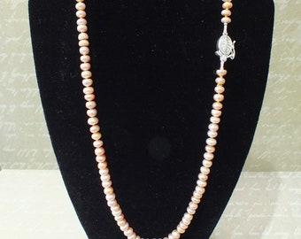 Hand Knotted Freshwater Lilac Pearl Necklace