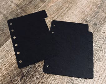 Blank DIVIDERS, Leather Like, Disc Bound Dividers, A5 Dividers, Arc Dividers, Levenger Dividers, Filofax Dividers, Louis Vuitton Planner