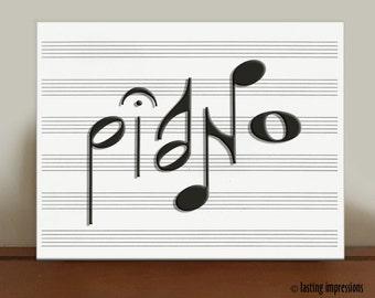 PIANO Music Art Print – Piano Graphic Print - Band Graphic Art - Choir Graphic Print - Glee Graphic Art - Dance Graphic Print – Musical Arts