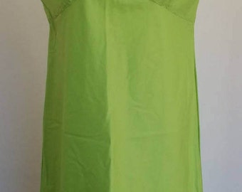 Vintage Juniors Lime Green, Spaghetti Strap, A-Line Dress Size 10