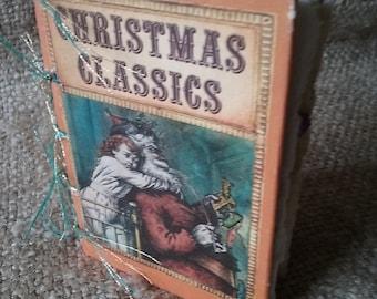 Handmade Altered Book, Christmas Journal
