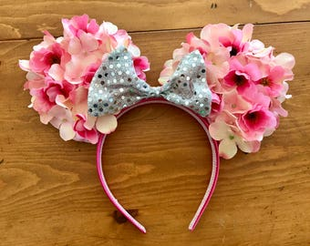 Flower Minnie Mouse ears