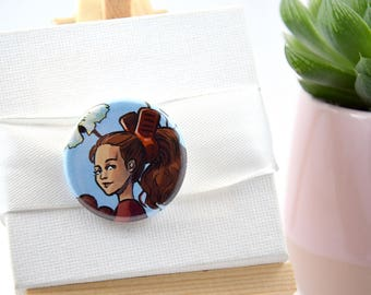 Arrietty Ghibli fanart badge 32 mm