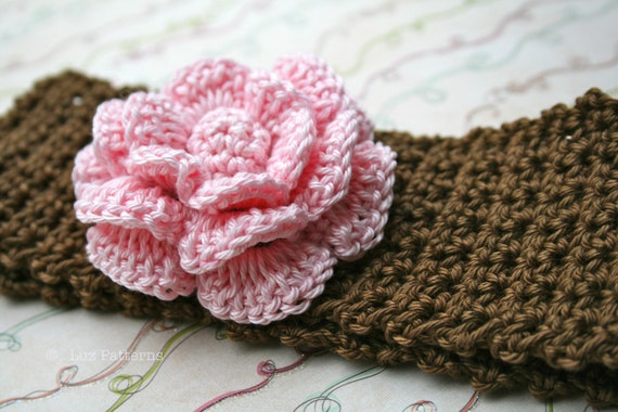 Crochet patterns baby headband pattern INSTANT DOWNLOAD