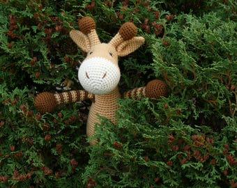 Knitted giraffe/knitted toy/amigurumi animals/knitted toys/giraffe toy/knitted toys/knitted giraffe/giraffe/amigurumi giraffe/knit giraffe