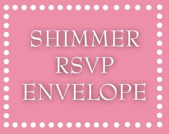 Shimmer RSVP Envelope