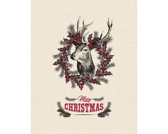 Farmhouse Christmas Poster - Downloadable Print