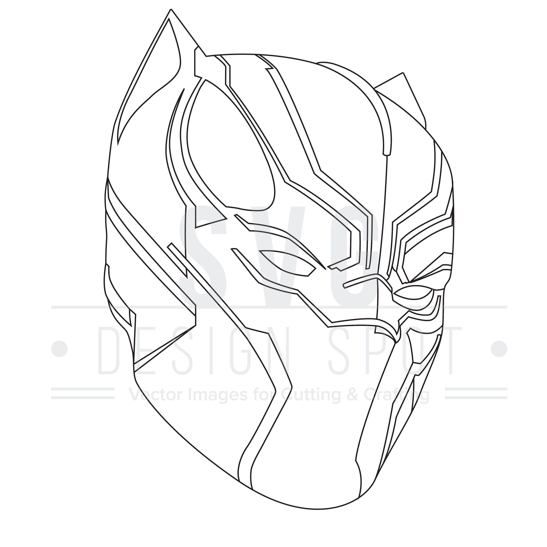 Black Panther SVG Eps Png - Super Hero SVG Files Black Panther Vector Graphic Black Panther ...