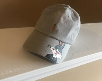 Hand painted Bugs bunny dad hat
