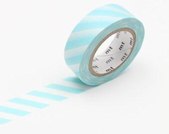 Mint Blue Stripe Washi Tape • MT Masking Tape • Washi Tape UK • Japanese Stationery • MT Stripe Mint Blue