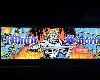 Magic Sword Arcade Style Marquee Light Box