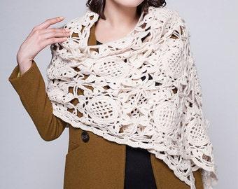 Crochet Flower Scarf Neckwarmers