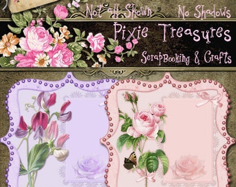 4 Pretty Floral Journaling Labels