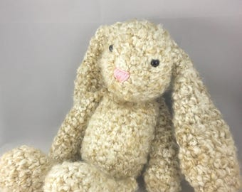 Crochet Floppy Eared Bunny Lovie | Crochet Rabbit Floppy Stuffed Animal | Crochet Easter Bunny Stuffed Animal