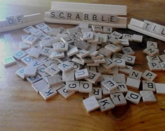 Scrabble Tiles and Trays