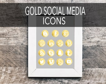 Gold Social Media Icons | Social Media Icons, Social Sharing Icons, Social Media Buttons, Social Vectors,  Blog Icons, Gold Foil