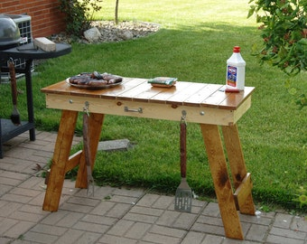 Grilling Table, Table, Portable Table, Tailgating Table, Lightweight Table, Deck Table