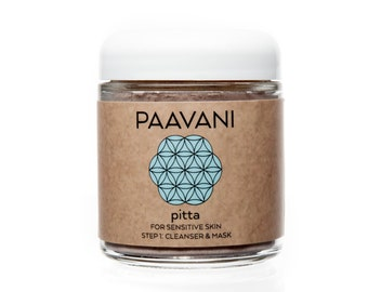 Pitta Facial Cleanser Facial Mask / Vegan Skin Care / Organic Skin Care / Organic Face Scrub/  Natural Mask / Ayurveda