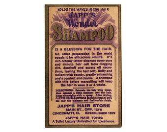 Japps Wonder Shampoo Vintage Label