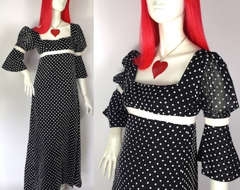 Annacat Vintage 1960s polka dot maxi dress by Annacat  / Mod / Pop Art / Cilla / Carnaby Street