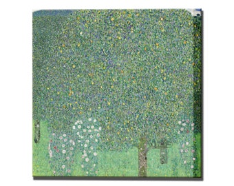 Roses Under Trees Gustav Klimt Canvas Print Wall Decor Interior Design Canvas Wall Art Print Ready To Hang Home Decor