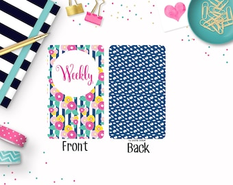 Pocket - TN- Travelers Notebook - Printable - Insert - Weekly - Wo2P - Erin Condren - Recollections - Vertical