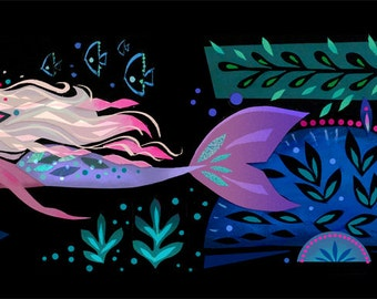 Deep Sea Mermaid Print