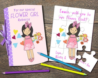 Flower Girl Proposal Puzzle, Will You Be Our Flower Girl, Will You Be My Junior Bridesmaid, Flower Girl Jigsaw, Flower Girl Invitation