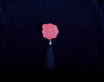 Insect Wax Seal Pin With Tassel