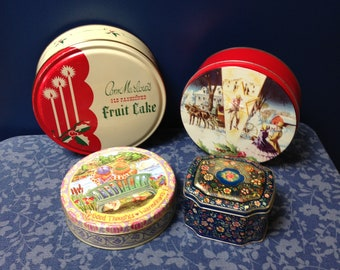 Tins (all 4 tins for the price)