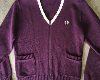 Vintage Fred Perry zip up cardigan