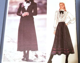 Vintage 1980s Sewing Pattern Vogue American Designer Pattern 1065 - Ralph Lauren - Misses' Jacket, Skirt and Blouse, Size 8