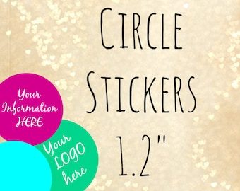 "1.2 "" Custom sticker ,custom lip balm stickers,custom circle label,label for jars, small circle labels,labels,stickers,circle label,cosmetic"