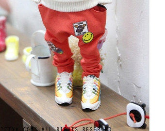 Blythe patch Baggy Pants - Orange