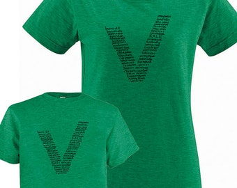 Vegetarian Mother Son or Mother Daughter T Shirt Matching Set - Vegan Matching Shirts for mom and child  T shirt gift, Mothers Day Mom Shirt