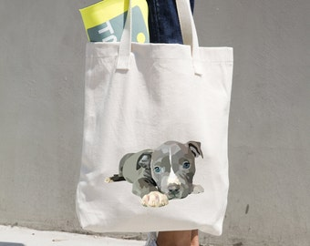 Tote Bag, Custom Dog Breed Natural Canvas Tote Bag Choose Your Dog!
