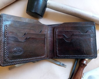 Men's leather wallet/classic leather wallet/bifold leather wallet/portafoglio in pelle/кожанный бумажник/кожанный кошелек.