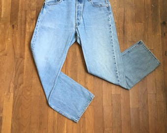 vintage levis 501 blue jeans made in usa 34 x 29