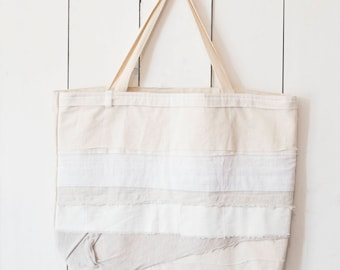 Upcycled One-Of-A-Kind Scrappy Tote Bag 2