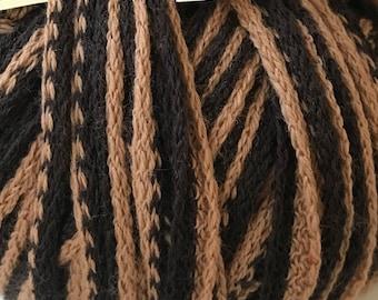 Yarn Destash - Wool Acrylic Mix - Brown Novelty Yarn Made in Italy