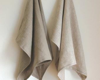 Set of 2 Linen Kitchen Tea Towels