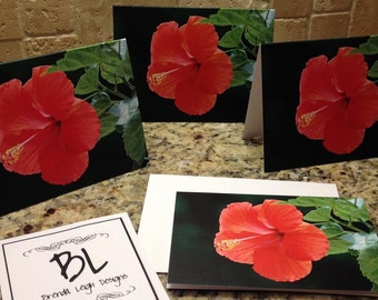"Set of Six- Custom 4"" x 6"" Notecards with Envelopes"