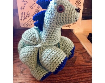 READY TO SHIP Handmade Crochet Dinosaur stuffed animal amigurumi doll