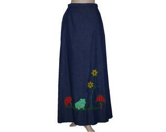 It's A Wrap - Vintage 1970's Maxi Wrap Skirt - Large