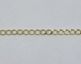Bright Gold, 4mm Curb Chain CC142