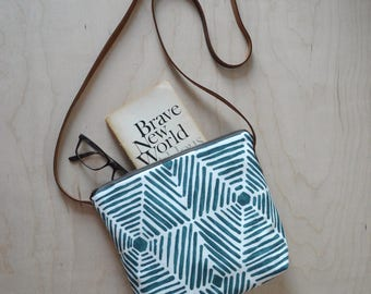 Shoulder Bag in Blue Web - Cross Body Purse